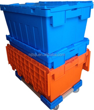 Heavy-duty plastic containers with foldable lid