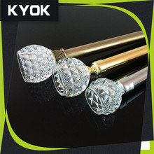 KYOK custom curved curtain rods wholesale , curtain rod accessories & curtian rod wholesale for home decoration projects