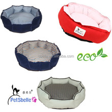 Stripe cotton high quality soft & waterproof pet bed dog bed