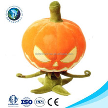 Cute halloween costume party toy cheap soft pumpkin plush toy fashion design stuffed pumpkin