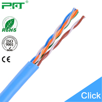 China Famous Cable Factory 24awg pure copper 4Pairs Cat 5e Network Cable