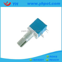 YH jiangsu 9mm low cost mono single unit rotary potentiometer 10k with wash and nut