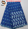 Royal blue wedding dress crystal stones embroidery french lace NL10140