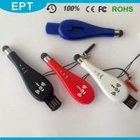 Custom Sliding Plastic Touch Screen Pipa Shape Mini USB Flash Drive