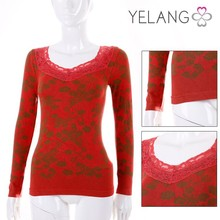 wholesale fashion lace red women thermal underwear