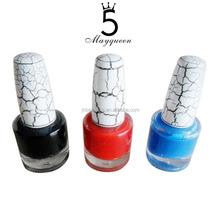 Nuevo diseño de moda crackle nail art polaco / nail polish Crack para mujeres