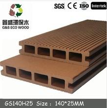 G&S composite health wpc decking/high quality wpc decking floor/NO GLUE !wood plastic composite environmental wpc flooring