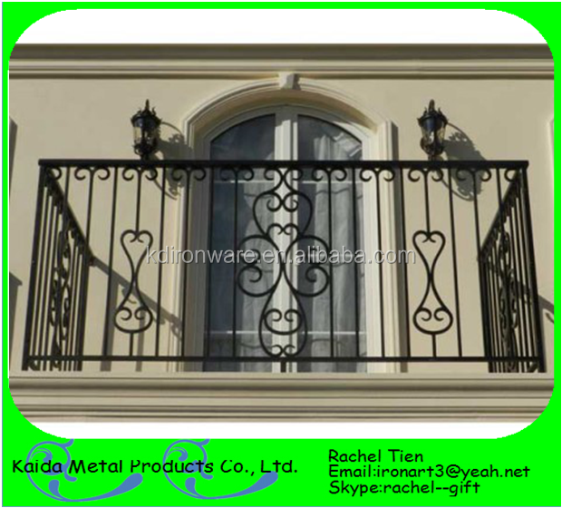 Wrought iron balcony grill designs buy iron window grill for Balcony full grill design
