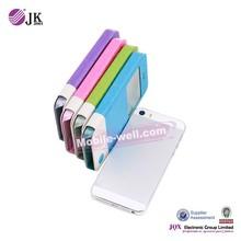 [JQX] mobile flip cover funda de piel leather case for iphone 6 plus with window carcasa de telefono