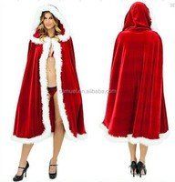 2015Top Quality Fancy Fur Mantle Sex Christmas Costume For Adult
