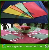 plain colorful non-woven tablecloth wholesale, cheap pp non woven tablecltoh ,disposable nonwoven tablecloth/tablecover