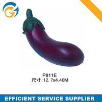 New Style Eggplant PU Foam Stress Promotional Stress Ball