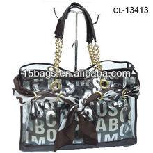 2012 Waterproof fashion lady clear pvc beach bag