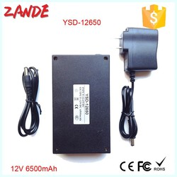 Super Portable Li-ion battery,DC Rechargeable 12V lithium battery factory for CCTV Camera YSD-12650