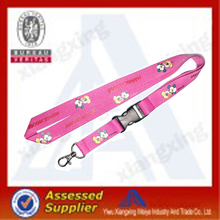 Silkscreen printed lanyard with accessories