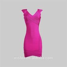 fucsia tamaño más vestido de fiesta para las mujeres gordas