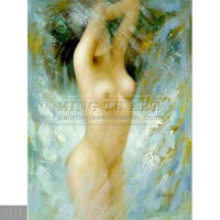 100% Handmade Impression Textured beautiful naked girl painting oils on canvas Wall Art