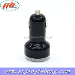 Rubber oil 2000mA Dual Usb car charger accessories for iphone 5