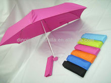 """19"""" 8K pink cheap promotional 3 fold umbrella for the rain"""