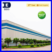 Long span light weight frame industrial steel structure prefabricated workshop project