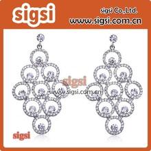 Bail pendant pinch style brass star crystal pendant