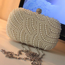 N081 innovative products for sale crystal clutch bag with pearl