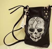 Wholesale new Skull black retro square vertical section shoulder bag fashion personality lady bags women handbag manufacturers
