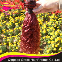 Grace hair Peruvian virgin hair weft machine weft color 99J