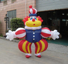 clown moving cartoon character, inflatable cartoon character for kids