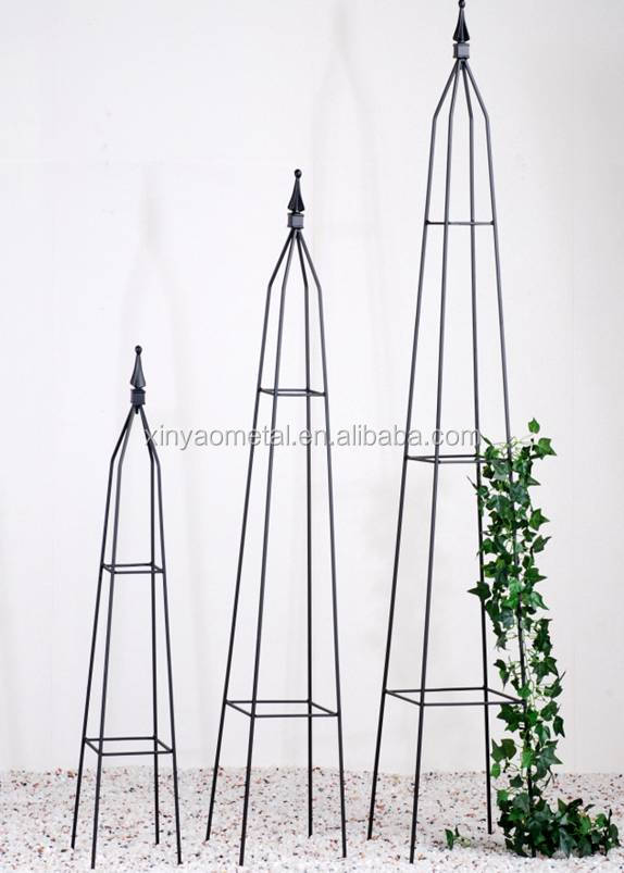 BS090003 Metal Garden Obelisk Garden Obelisk Trellis With Square Tube