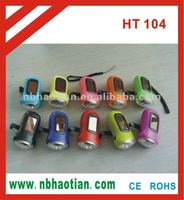 3 led solar dynamo flashlight