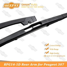 double springs with newest hard edge Spoiler windshield Rear Wiper Arm for Peugeot 307