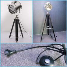 Spot Light Lamps Search Lights Large Adjustable Tripod Wooden Floor Lamp