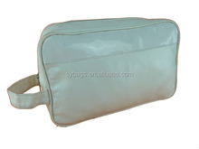 large white pu handle cosmetic bag / Wholesale Waterproof makeup bag / Hanging Travelling wash bag For Traveller
