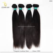 Golden Supplier Best Quality Unprocessed Wholesale Price No Shedding tight & neat 7a virign peruvian human hair extensions