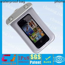 2015 new arrivel waterproof clear plastic bag cover for iphone 5