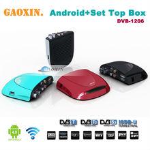 Caja de la TV jugador internet DVB-S2 Android