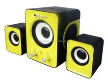 in hot selling with remote control cheap 2.1 card speaker