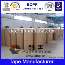 Clear/transparent with Logo Industrial bopp tape jumbo roll