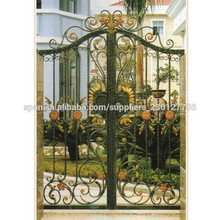 puertas de las puertas de hierro forjado se utilizan