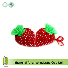 Light To Carry Washable Eco Friendly Foldable Strawberry Grocery Shopping Bag