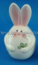 The rabbit plate ceramic arts and crafts