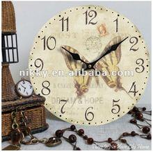 2012 New design shabby chic unique wall clock designs