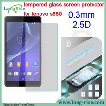 High Clear Shockproof 0.3mm 2.5D Tempered Glass Screen Protector for Lenovo S660