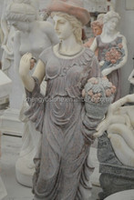 Hand Carved Life Size Girl Stone Sculpture