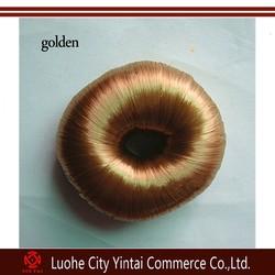 Wholesale blonde hair bun pieces/magic bun hair twist/donut hair accessories