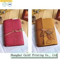 OEM soft PU leather cover notebook