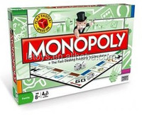 hot selling English monopoly board game color box packing / hot sale intelletual table game