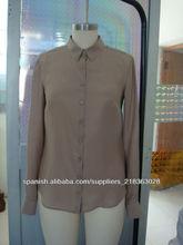 100% satén de seda blusa de la señora
