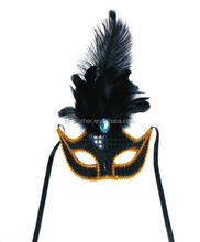 fashion feather party city funny mask for halloween